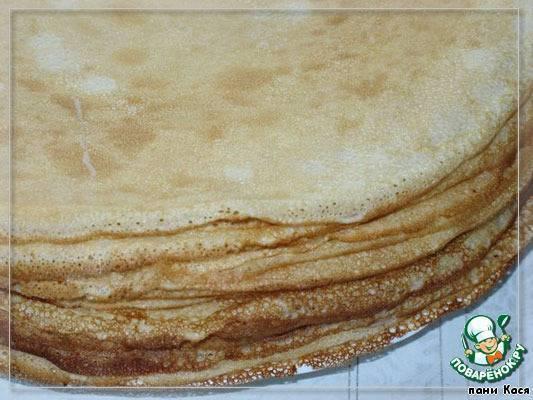 Блины с вишнями - простой, но очень вкусный десерт